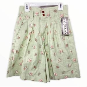 Vintage NWT Floral High Waisted Pleated Shorts